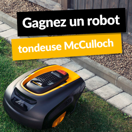 Gagnez un robot tondeuse McCulloch