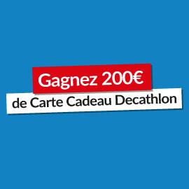 Gagnez une carte cadeau Decathlon de 200€