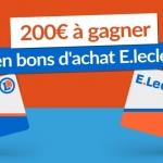 En février, gagnez un bon d'achats E.leclerc de 100 € !