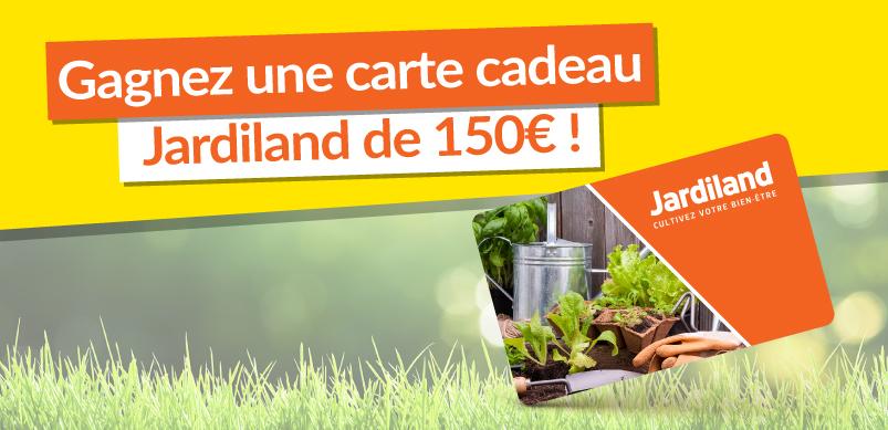 une carte cadeau Jardiland de 150 euros