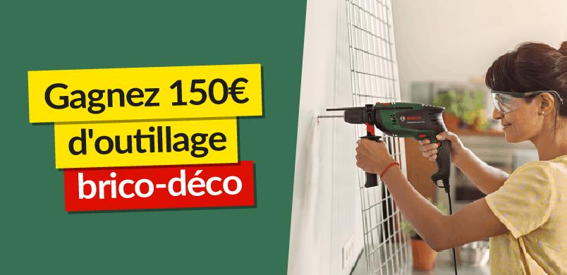Gagnez 150€ d'outillage brico-déco avec eSpares France