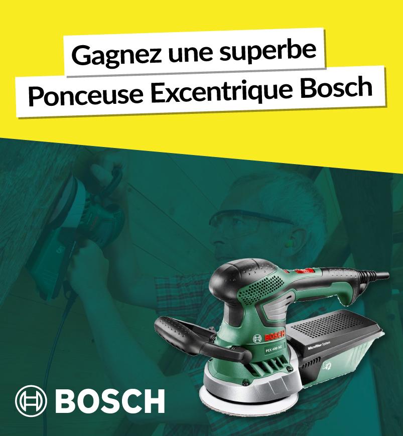 gagnez une ponceuse excentrique Bosch